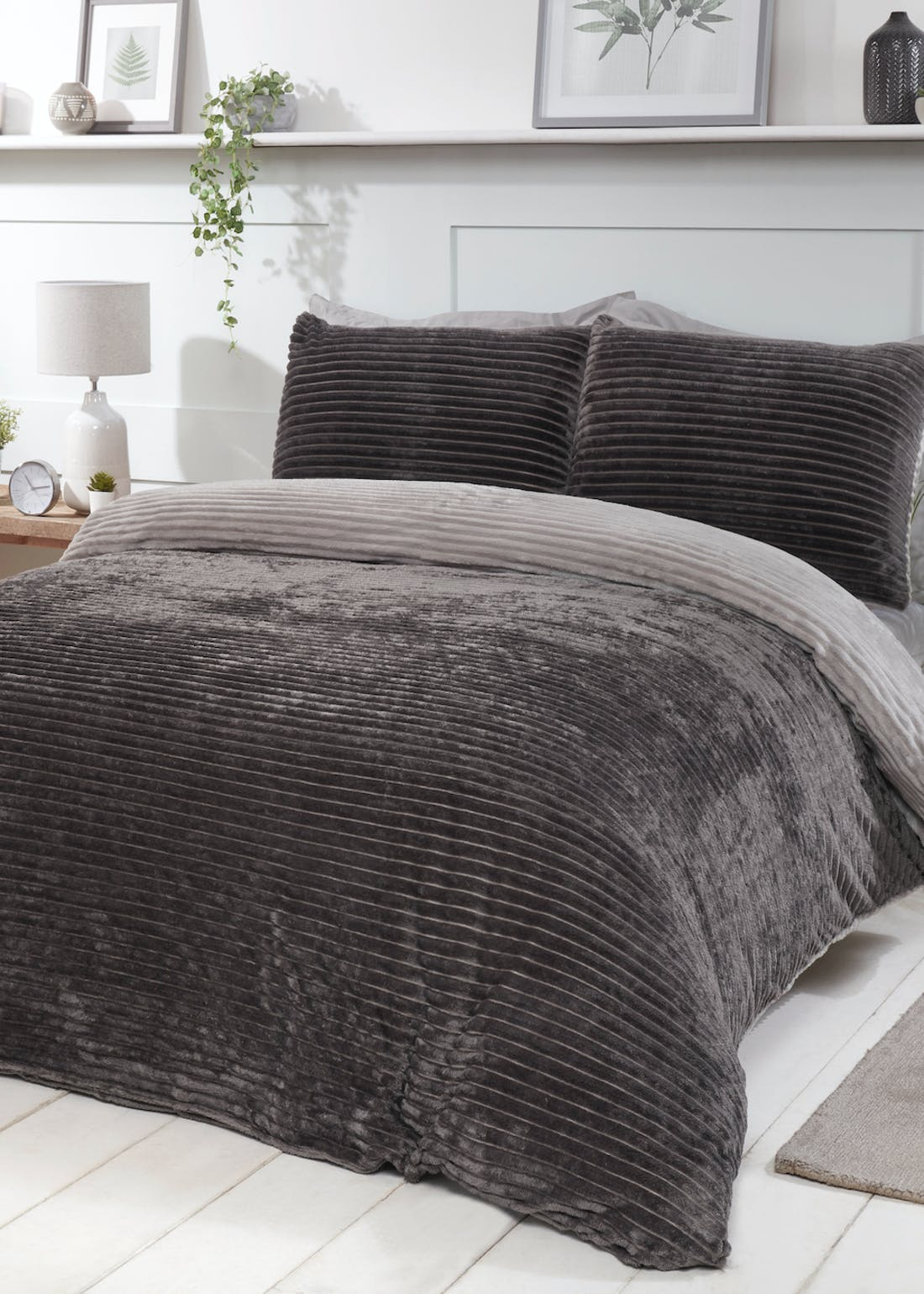Sleepdown Ribbed Fleece Duvet Cover