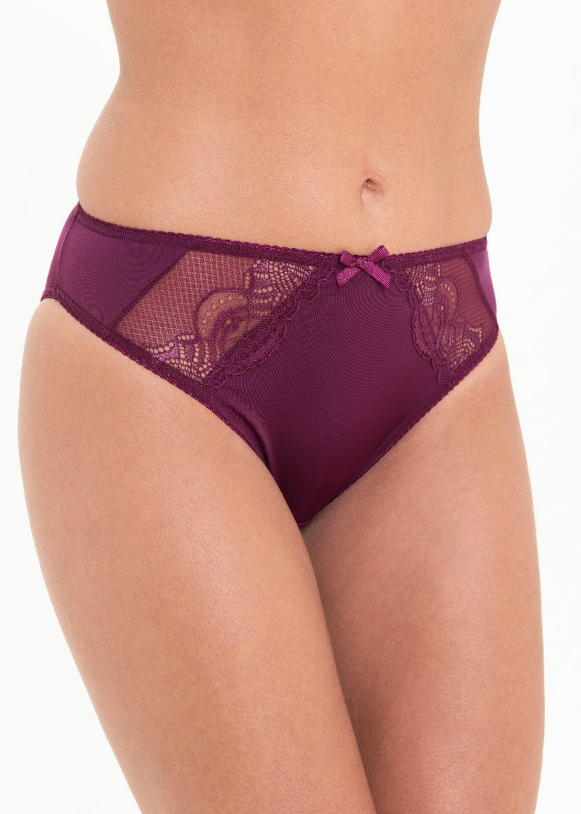 3 Pack Micro Lace High Leg Knickers