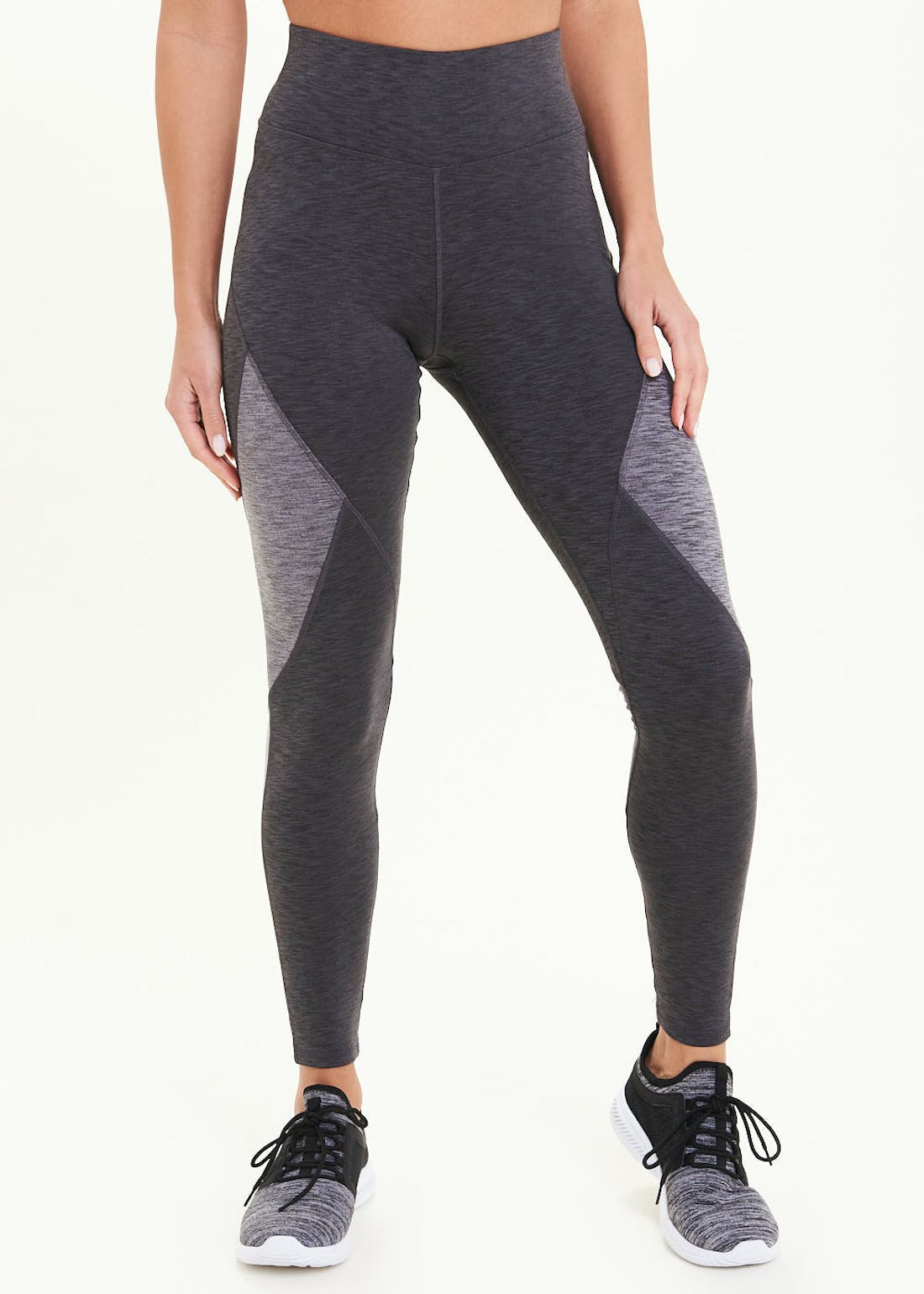Souluxe Grey Panelled Gym Leggings