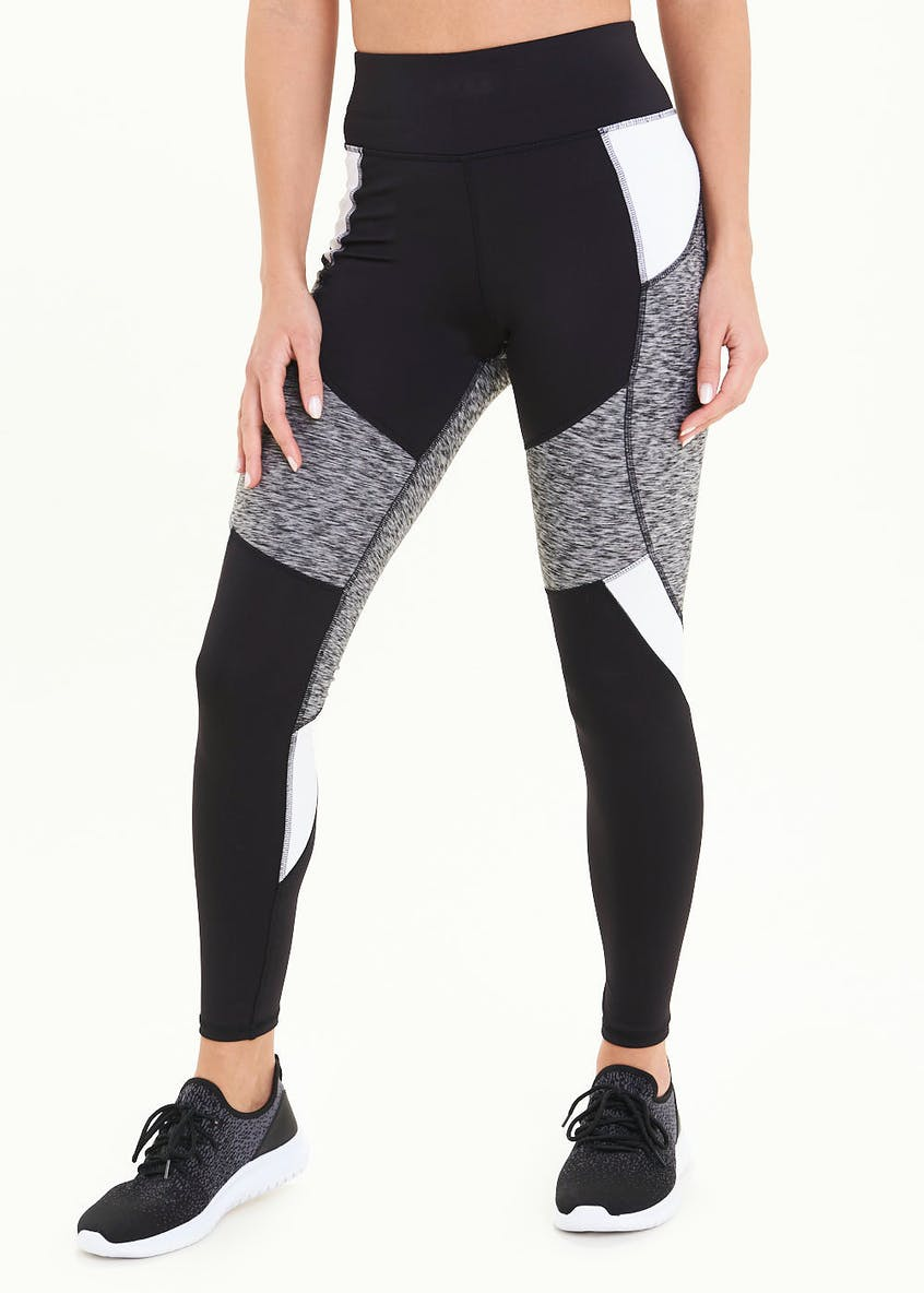 Souluxe Black Panelled Gym Leggings