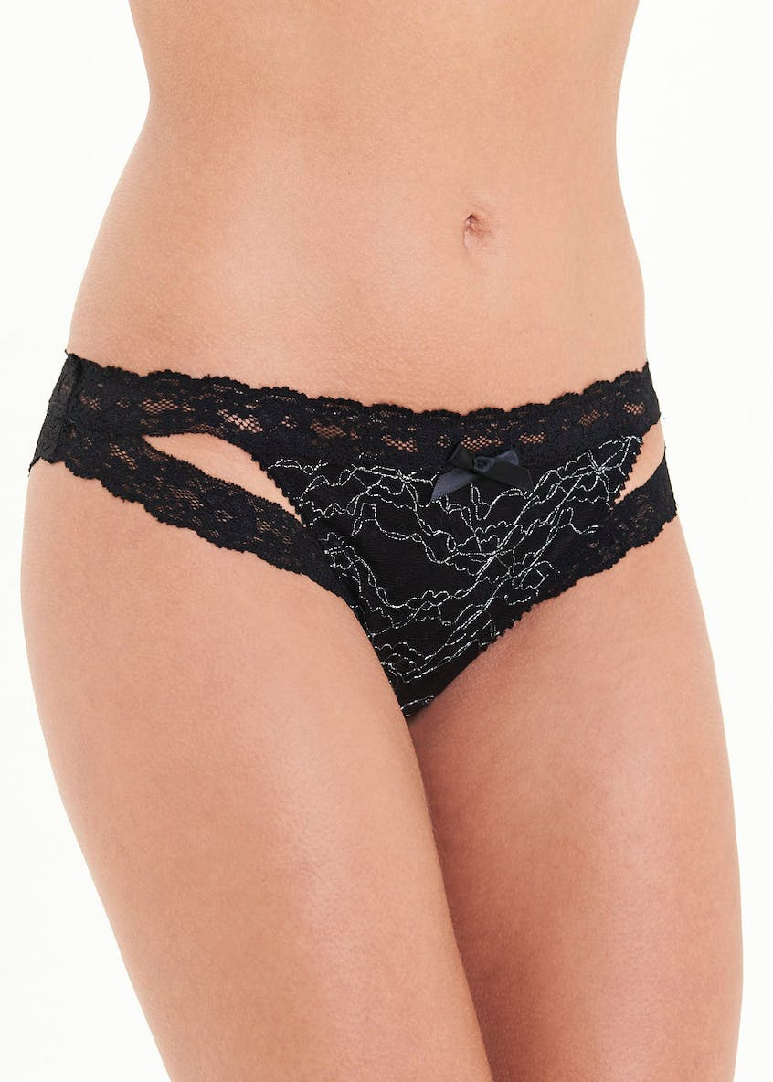 Sparkle Lace Mini Knickers