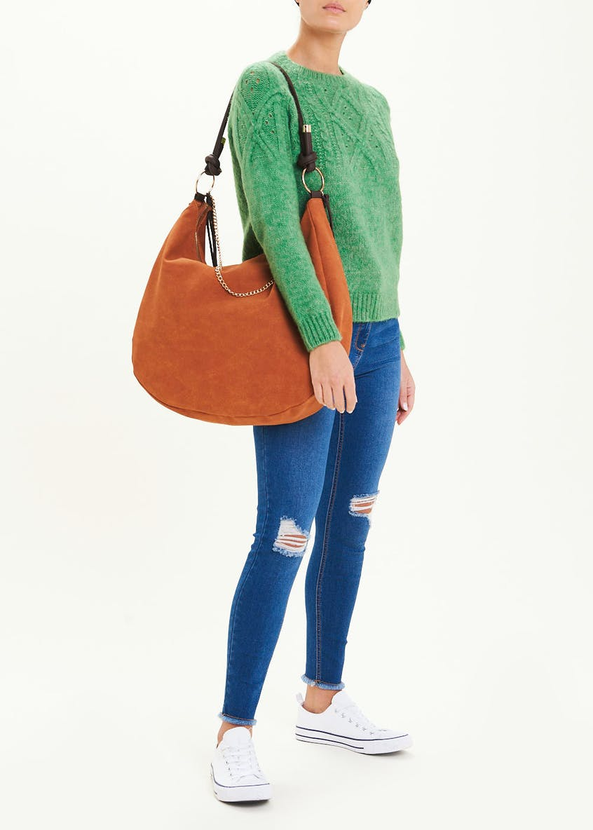 Suedette Slouch Tote Bag