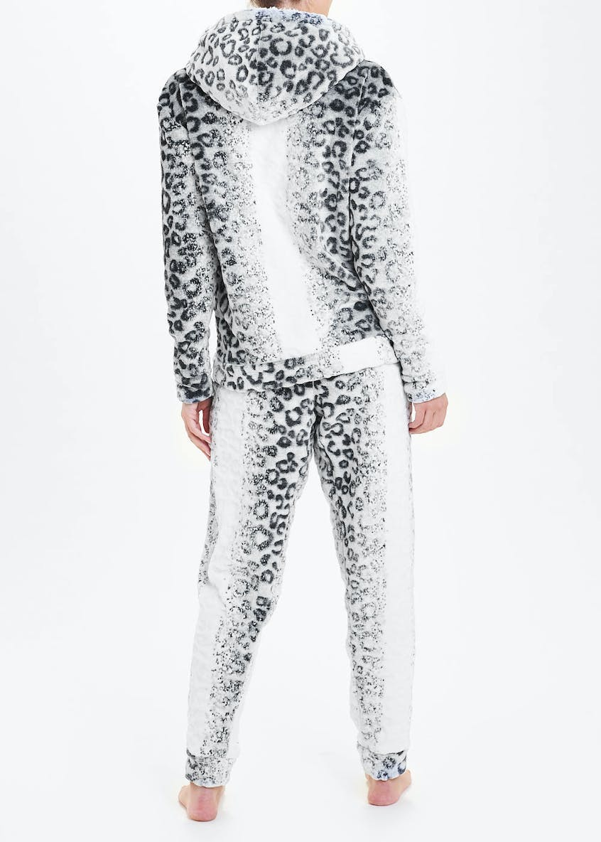 Snow Leopard Hooded Premium Pyjama Set