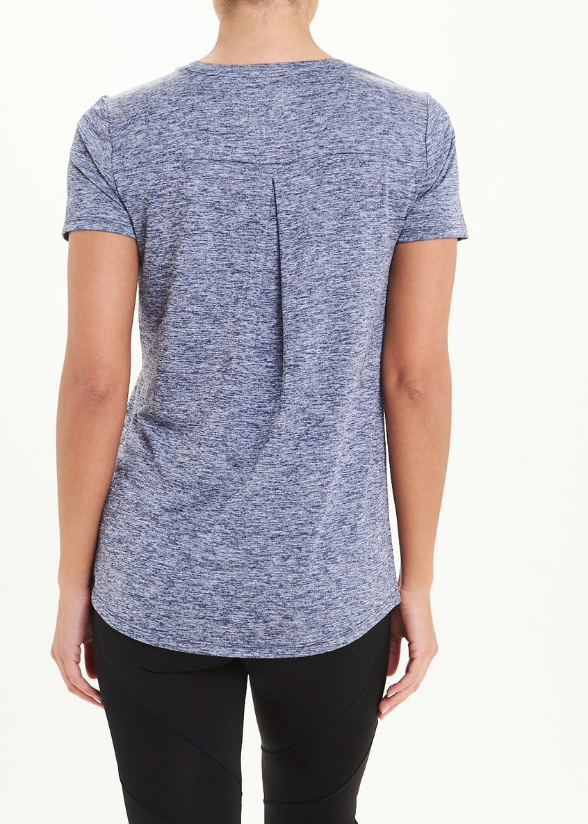 Souluxe Blue Slouch Gym T-Shirt