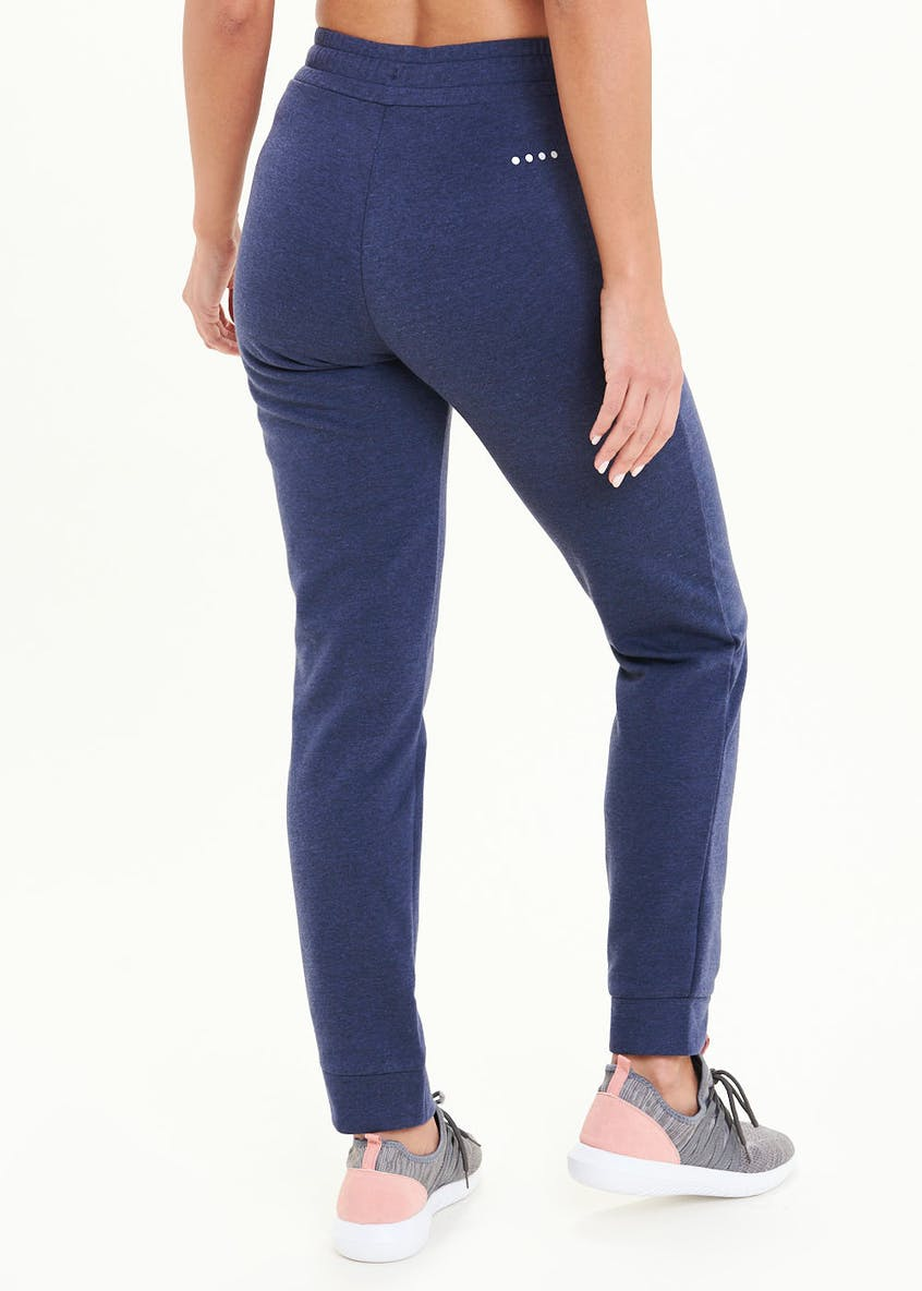 Souluxe Navy Zip Tape Sports Jogging Bottoms