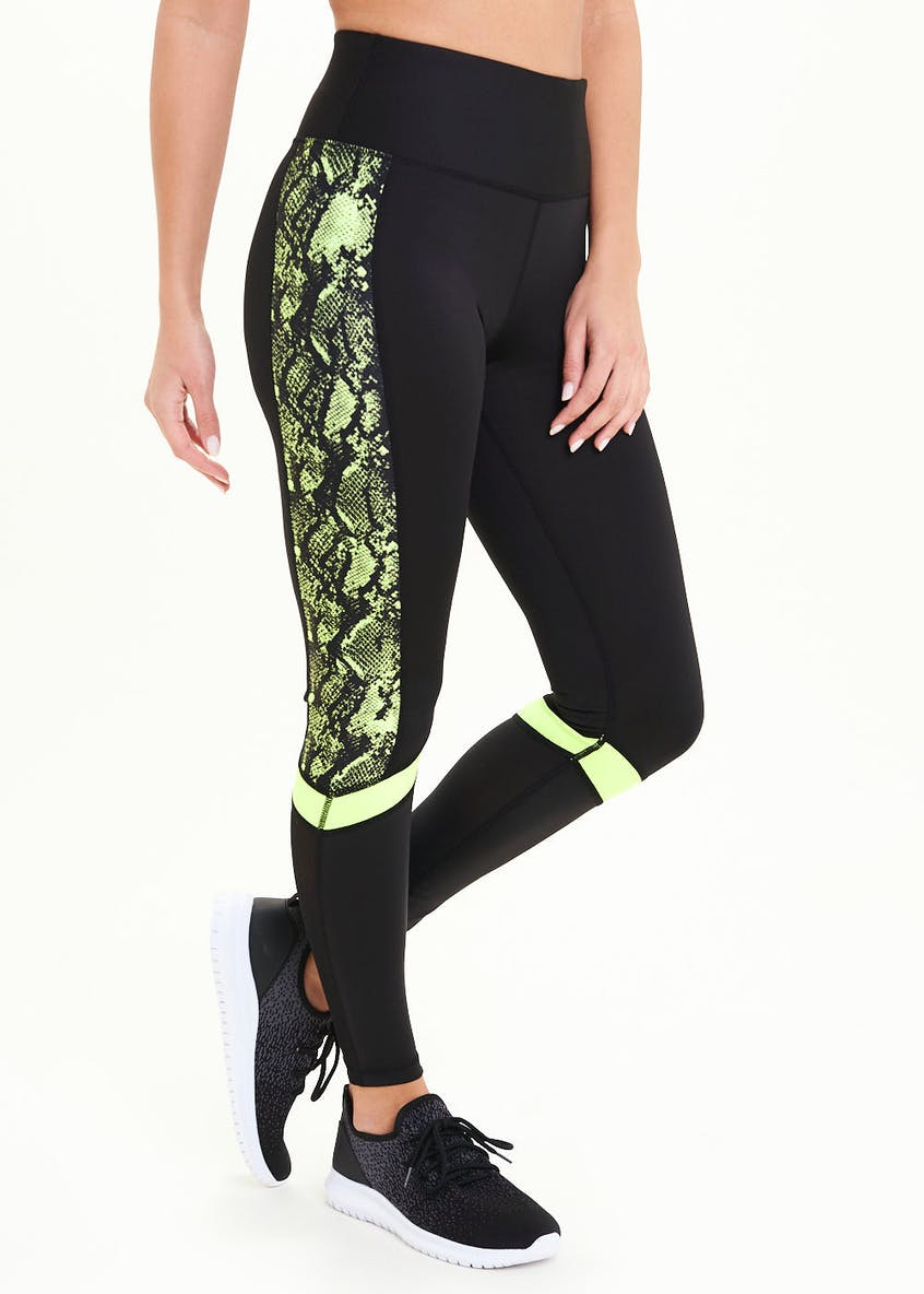 Souluxe Black Snake Panel Gym Leggings