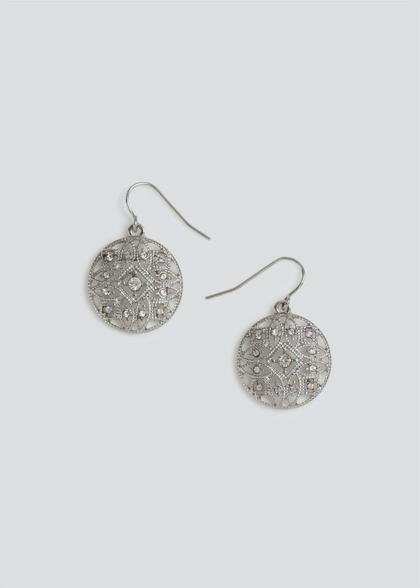 Fili Disc Necklace & Earrings Pack