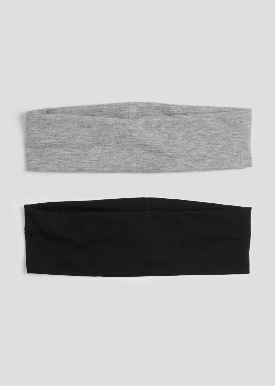 2 Pack Wide Jersey Headbands