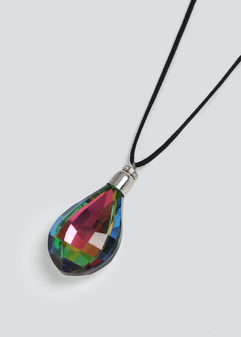 Faceted Pendant Necklace