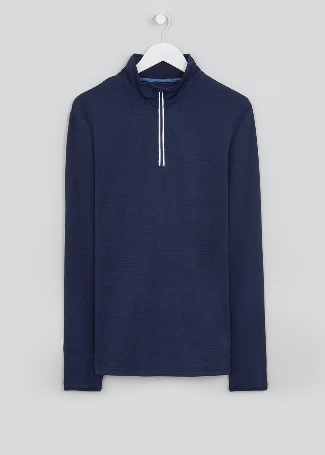 Souluxe Navy Half Zip Sports Sweatshirt