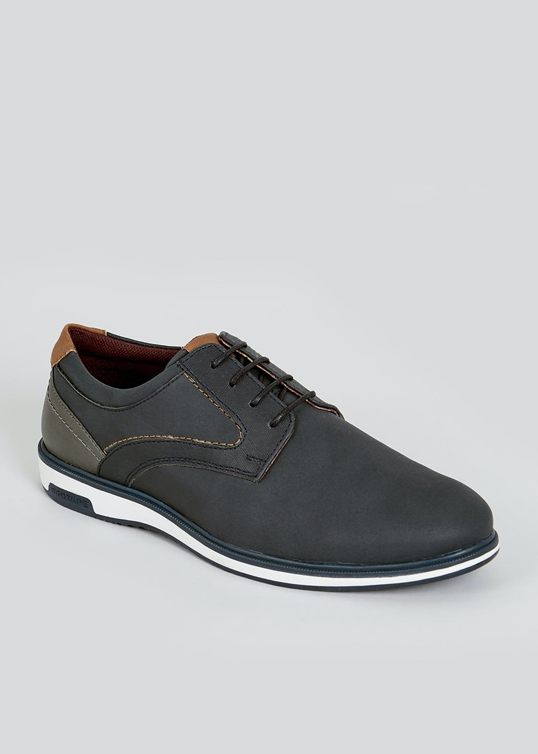 Navy Casual Gibson Shoes