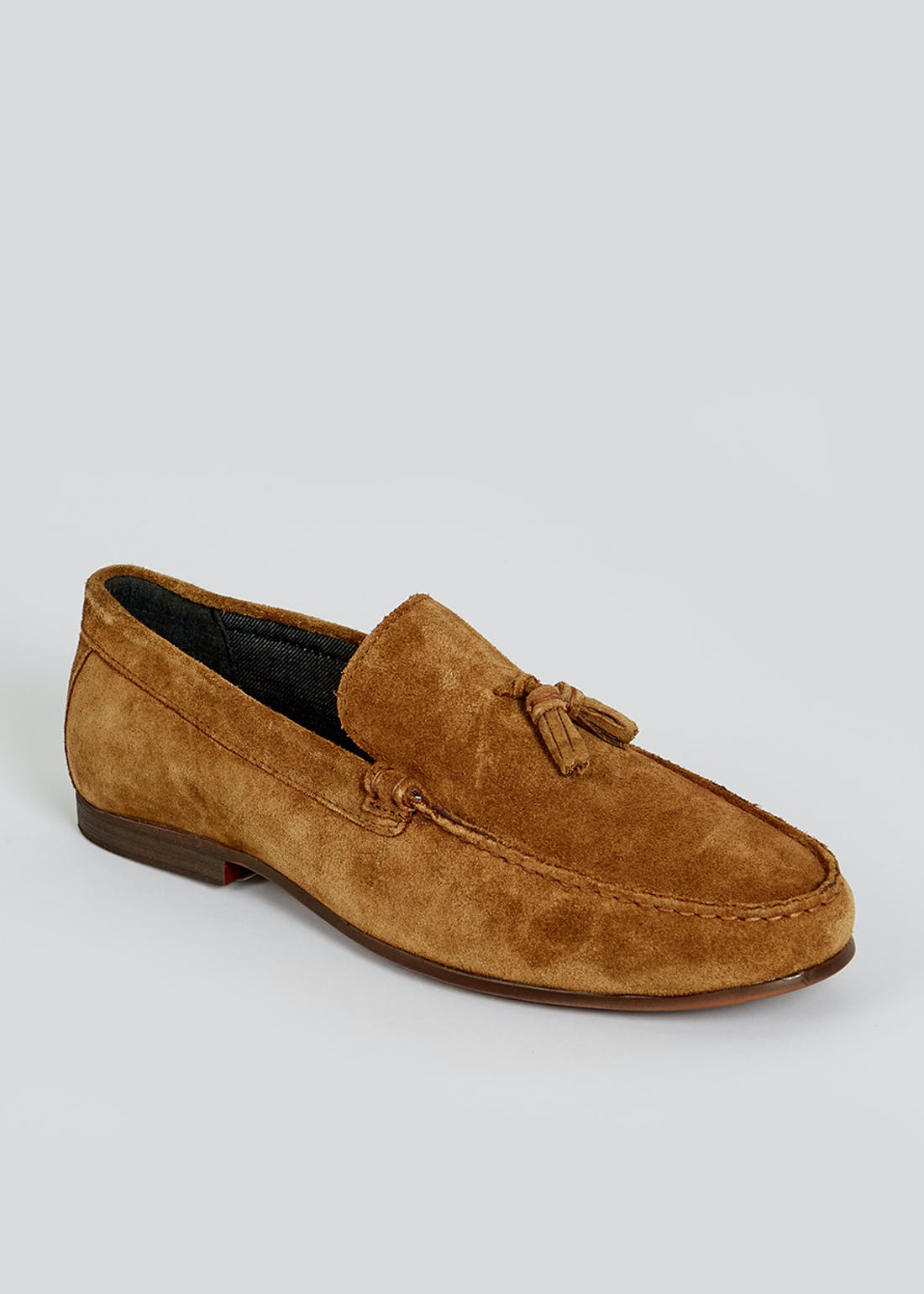 Tan Real Leather Loafers
