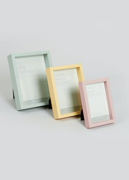 3 Pack Deep Photo Frames