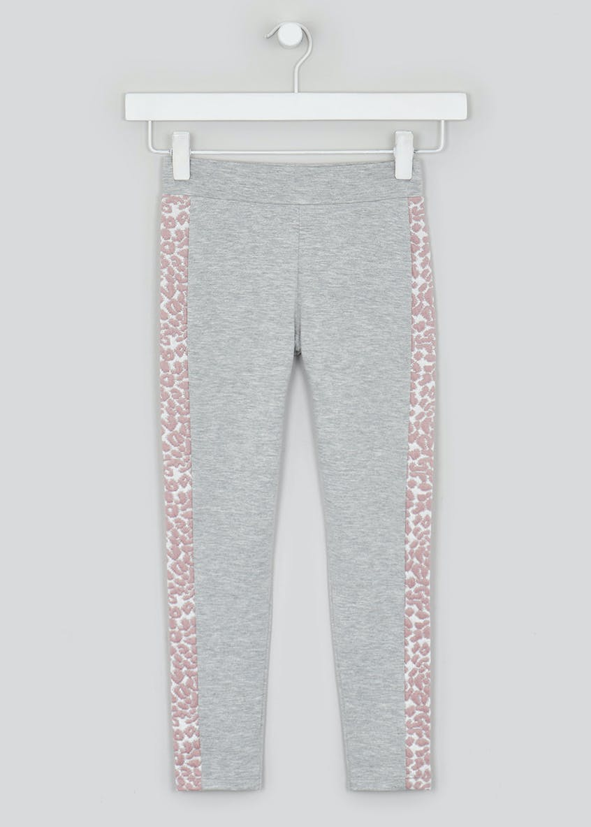 Girls Animal Print Panel Jogging Bottoms (4-13yrs)
