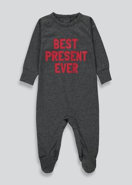 Best Present Ever Christmas Baby Grow (Tiny Baby-23mths)