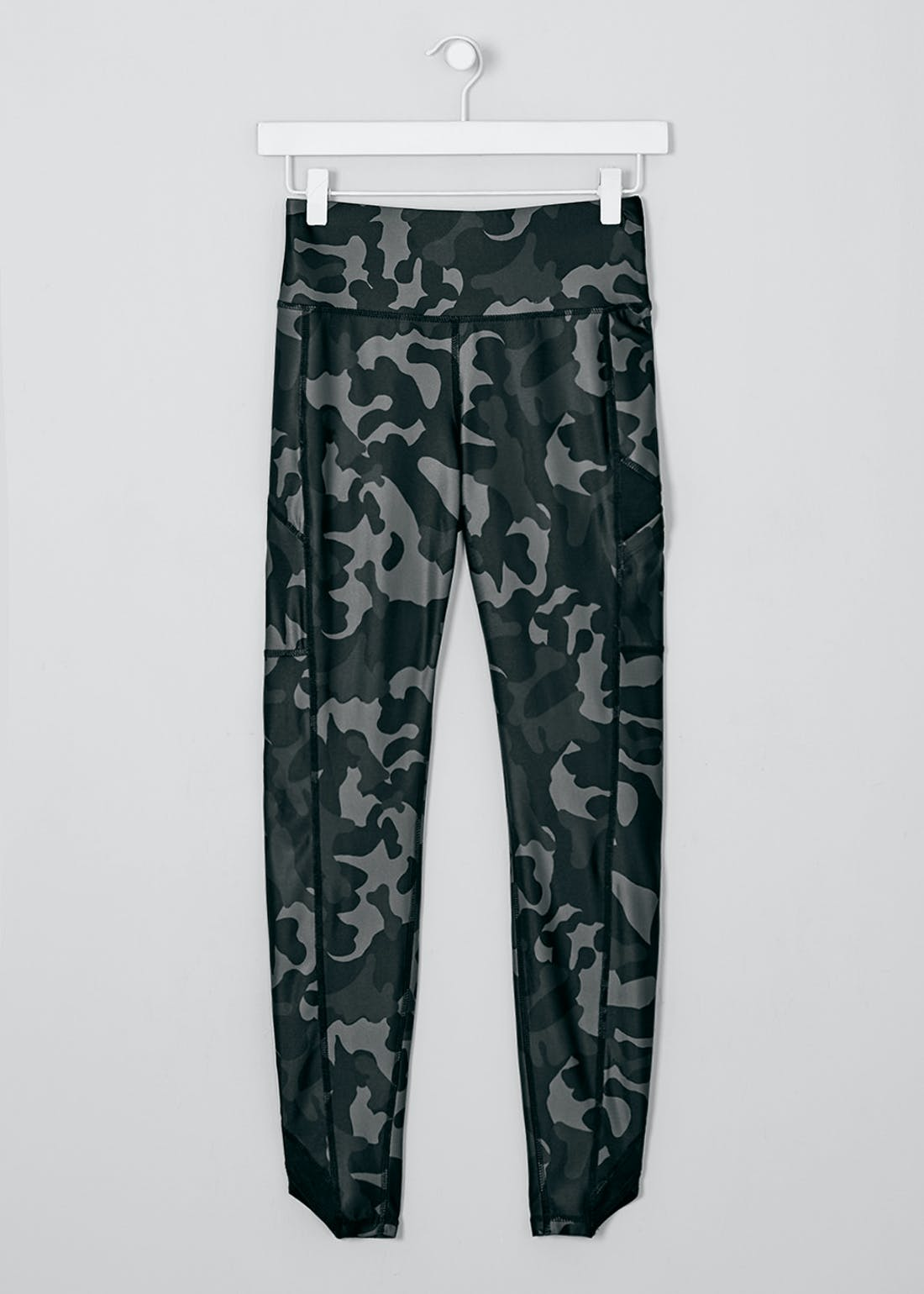 Souluxe Grey Camouflage Gym Leggings