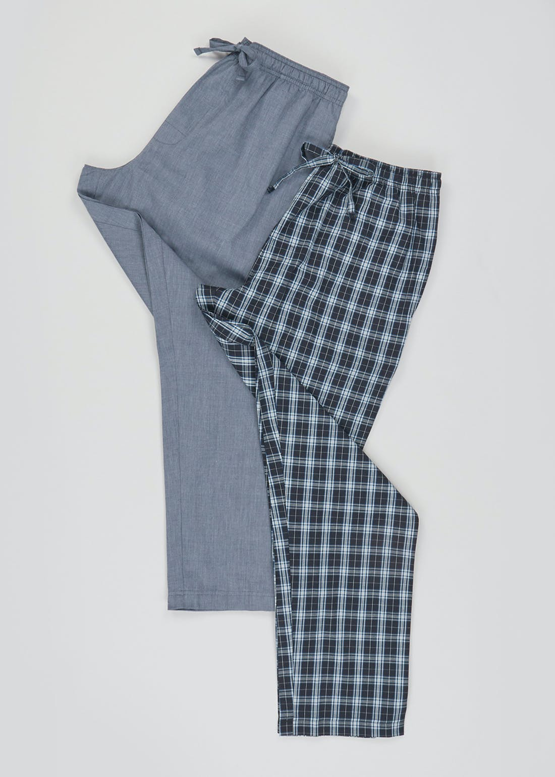 2 Pack Woven Pyjama Bottoms