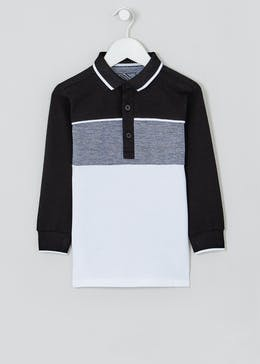 Boys Long Sleeve Textured Polo Shirt (4-13yrs)