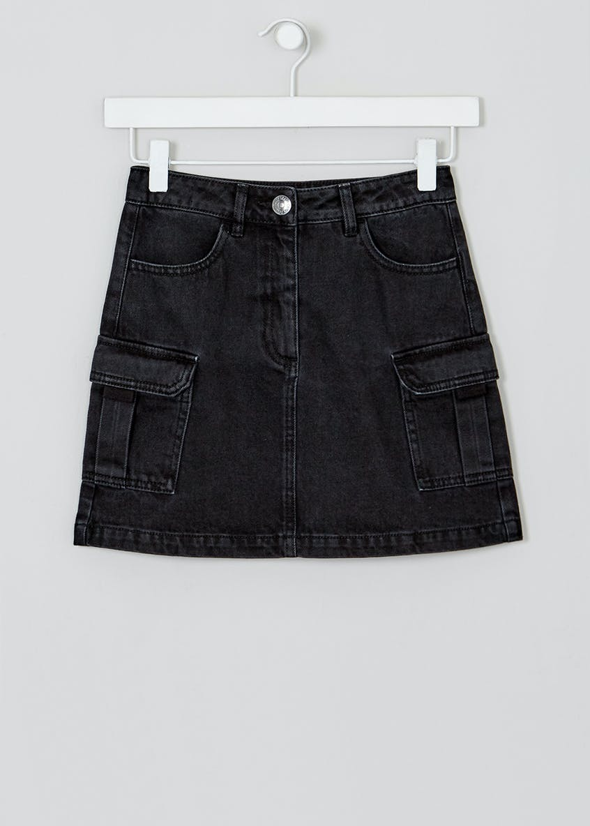 Girls Candy Couture Denim Utility Skirt (9-16yrs)