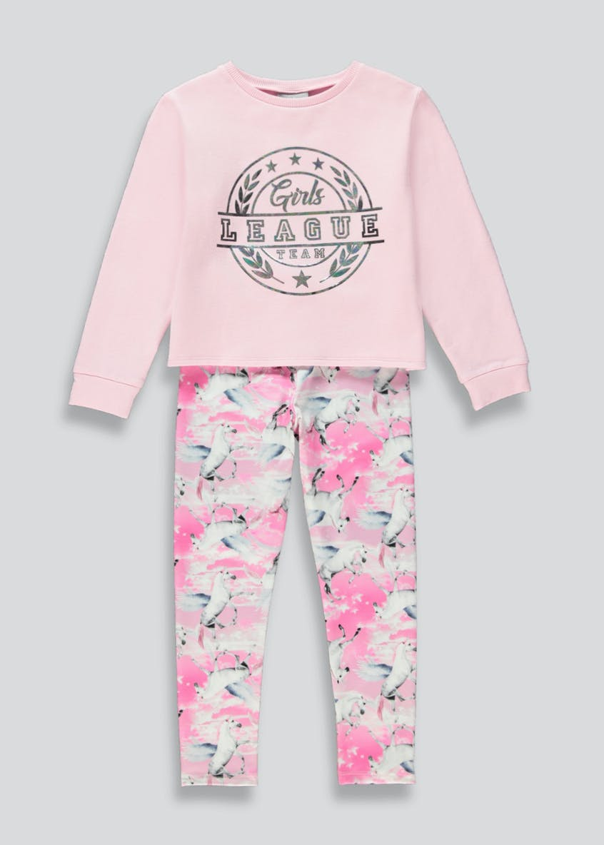 Girls 2 Piece Lounge Set (4-13yrs)