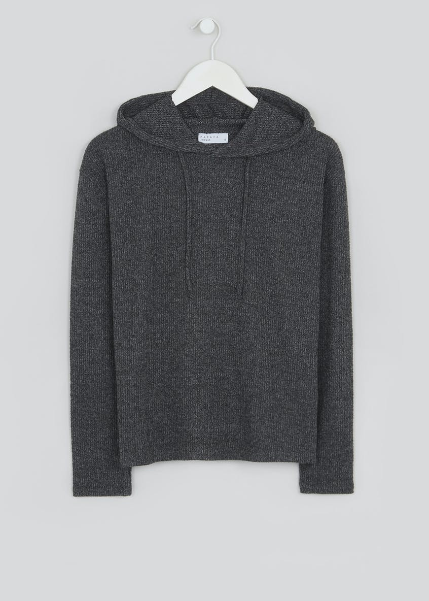 Soft Touch Ribbed Hoodie