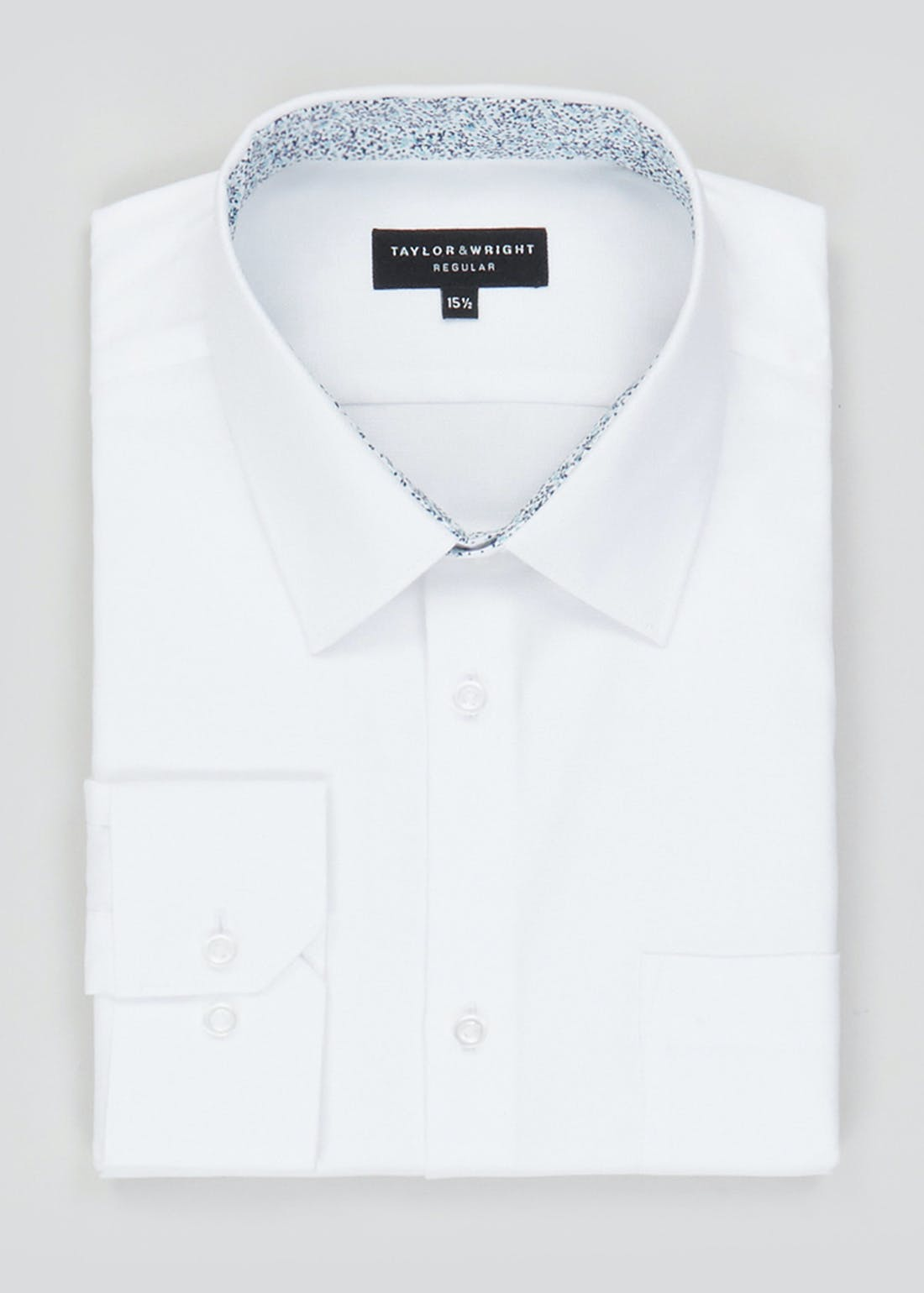 Taylor & Wright Long Sleeve Regular Fit Oxford Shirt