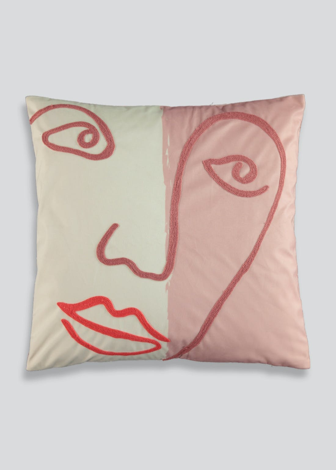 Embroidered Face Cushion (46cm x 46cm)