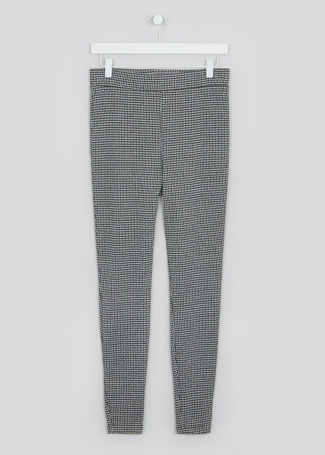 Textured Dogtooth Check Trousers