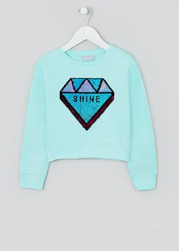Girls Flippy Sequin Diamond Sweatshirt (4-13yrs)