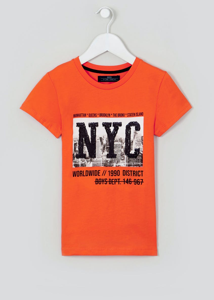 Boys Flippy Sequin NYC T-Shirt (4-13yrs)