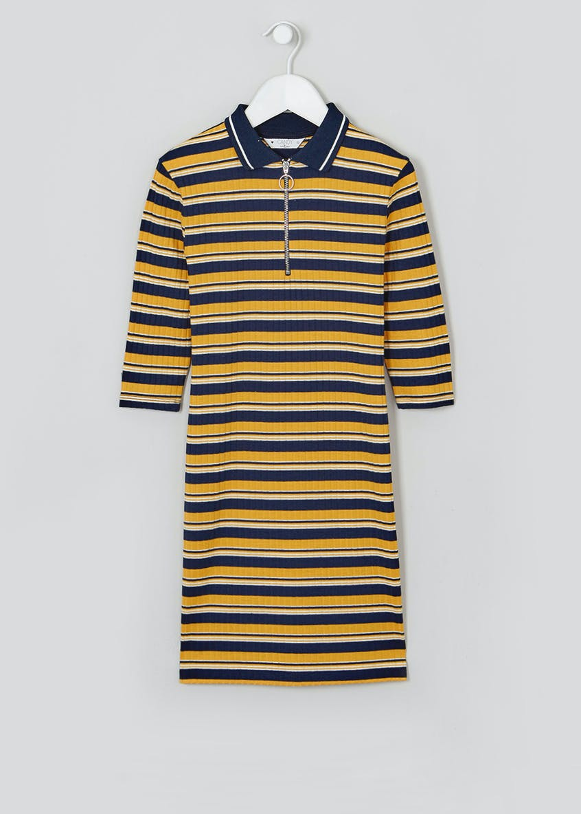 Girls Candy Couture Stripe 3/4 Sleeve Dress (9-16yrs)