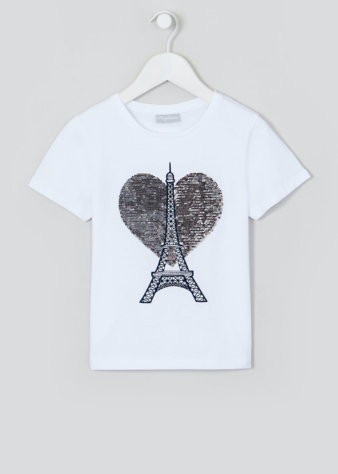 Girls Flippy Sequin Paris T-Shirt (4-13yrs)