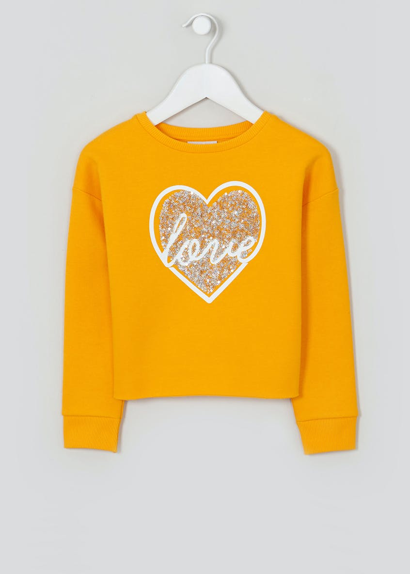 Girls Cropped Love Sweatshirt (4-13yrs)