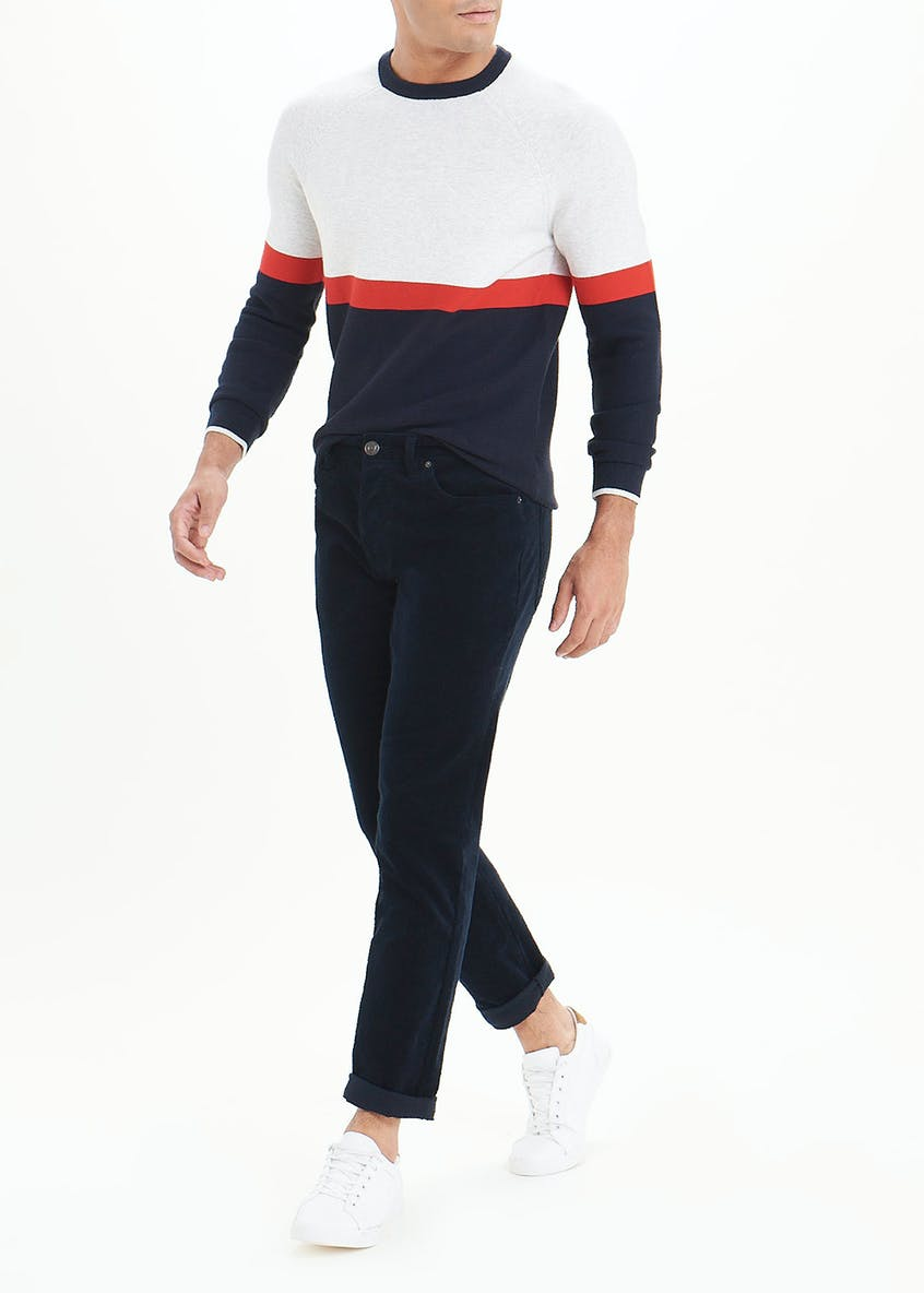 Big & Tall Straight Fit Cord Trousers