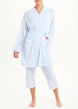 Ditsy Heart Print Dressing Gown
