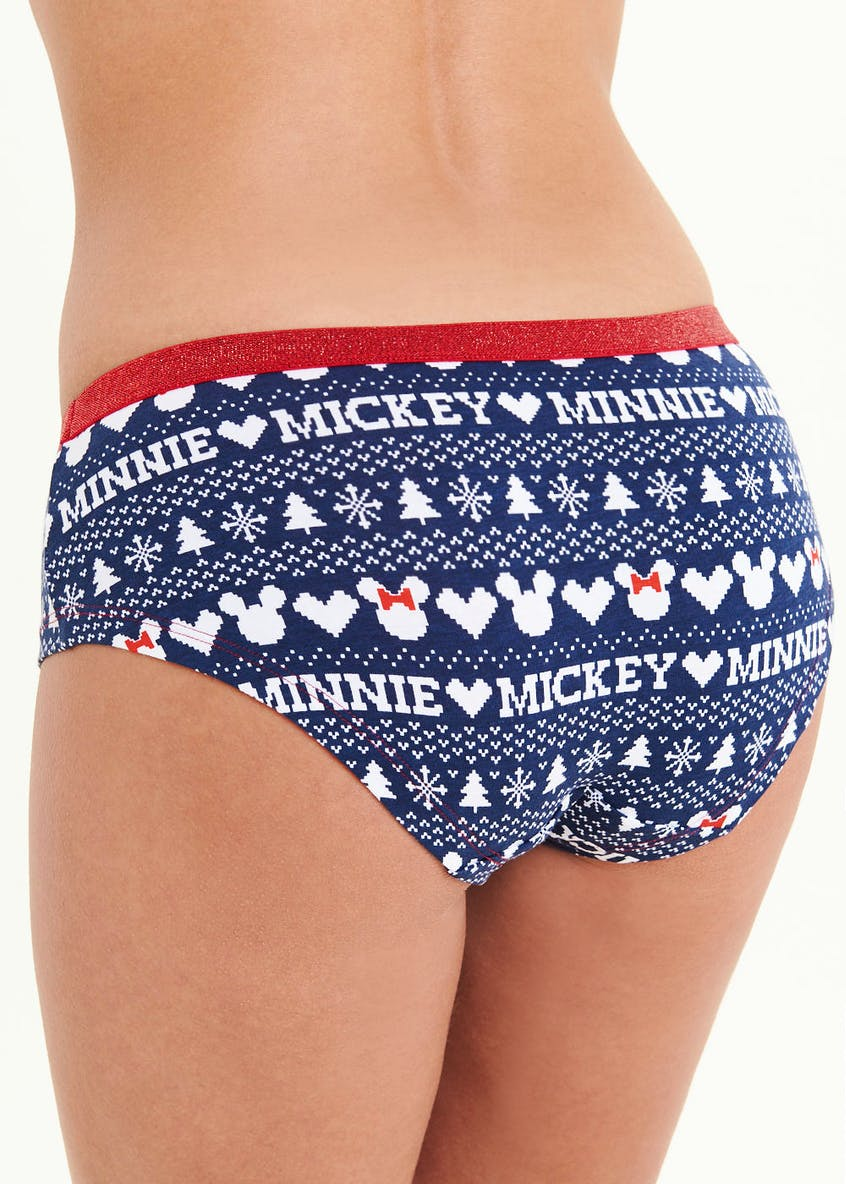 Minnie & Mickey Christmas Rugby Short Knickers