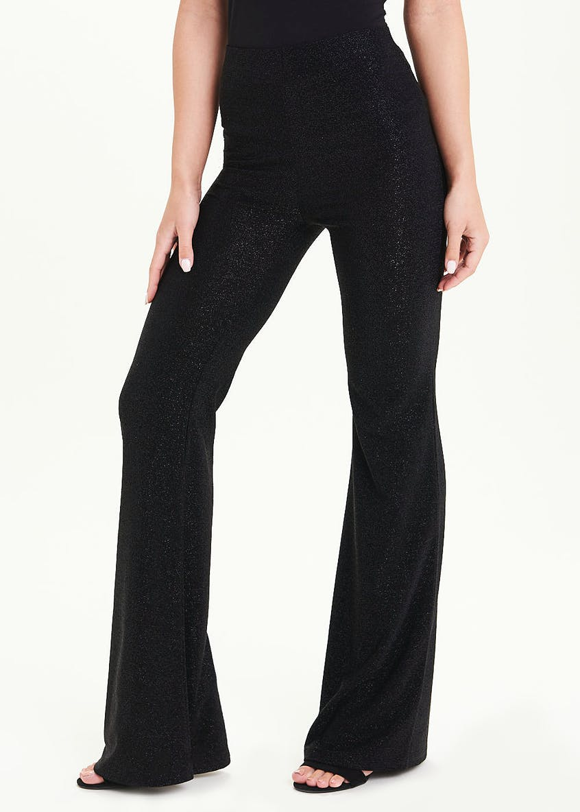 Glitter Wide Leg Trousers