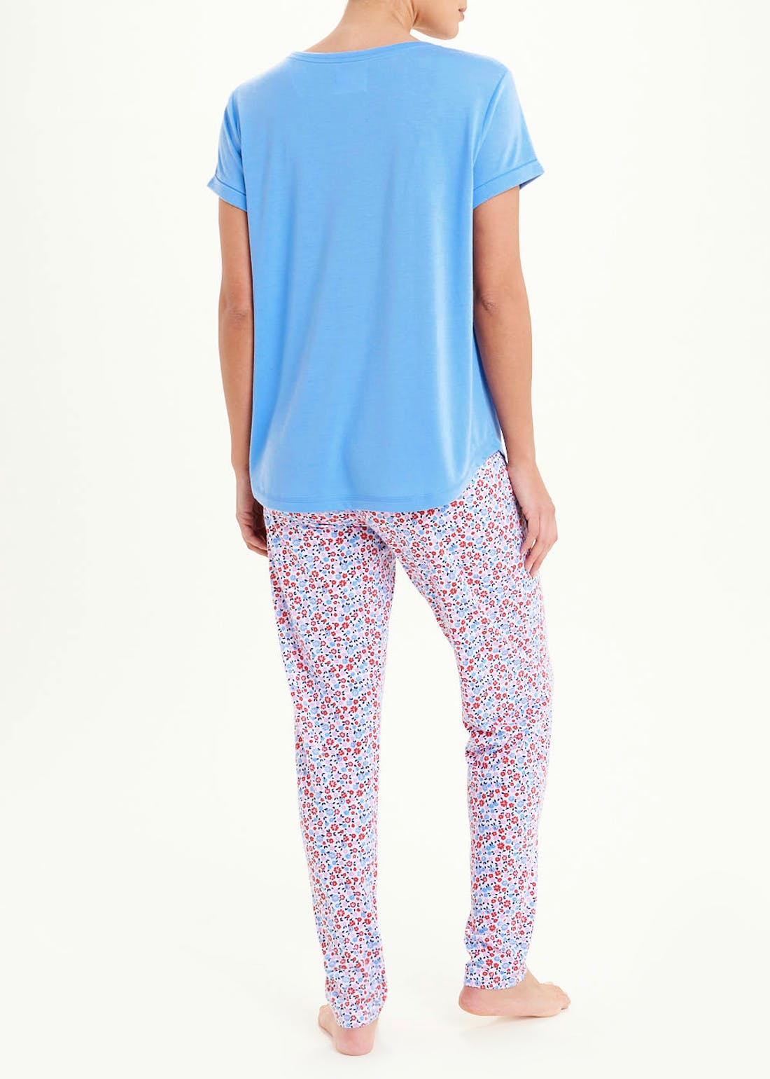 Love Slogan Floral Pyjamas