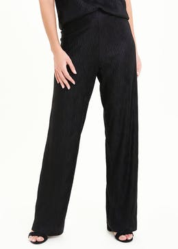 Plisse Wide Leg Co-Ord Trousers