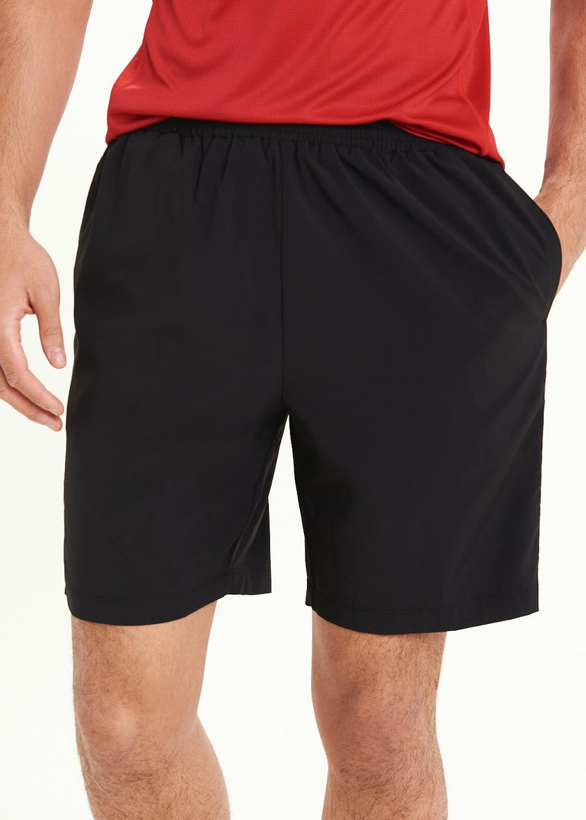 Souluxe Mesh Panel Woven Gym Shorts