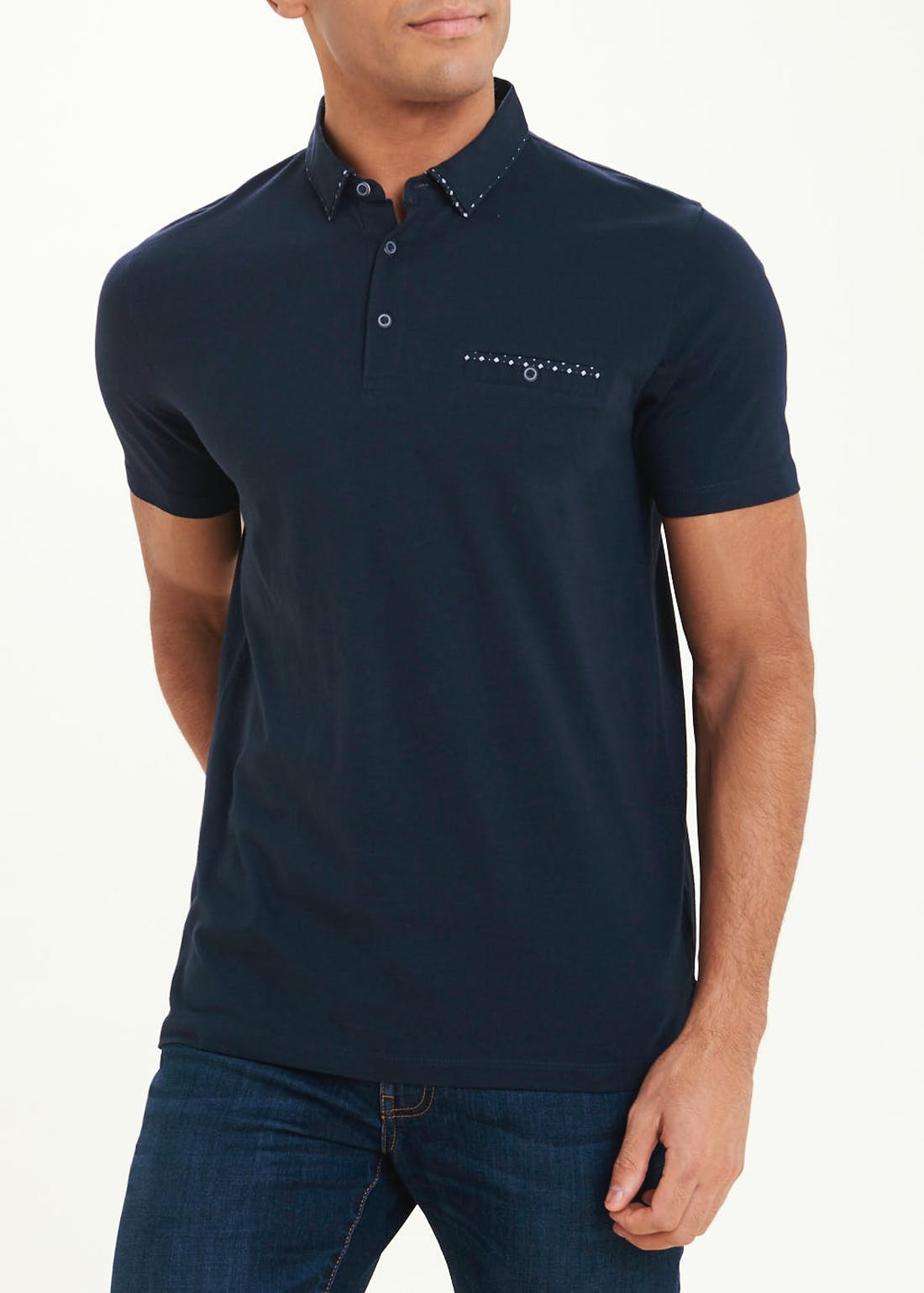 Short Sleeve Woven Cotton Polo Shirt