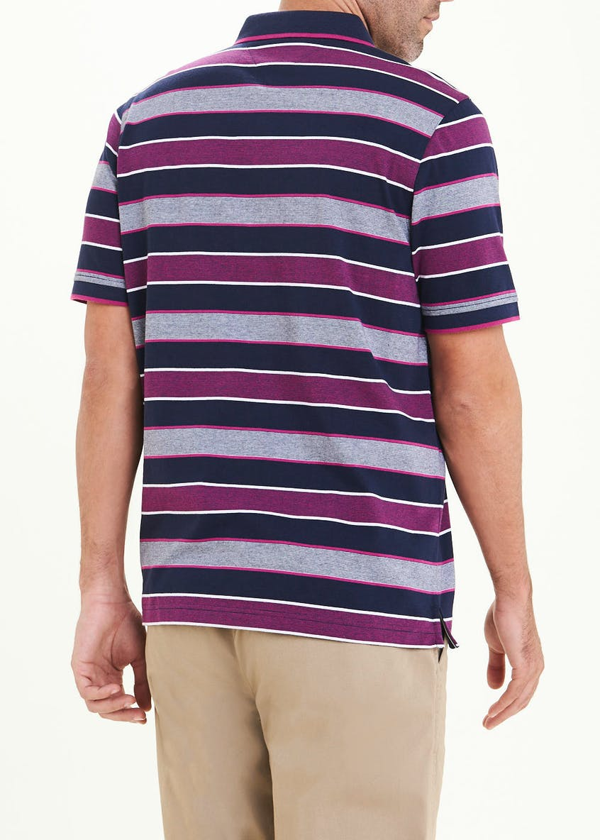 Lincoln Short Sleeve Stripe Polo Shirt