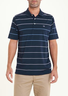 Lincoln Active Short Sleeve Stripe Polo Shirt
