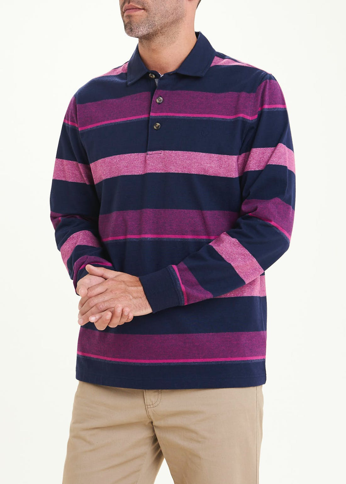 Lincoln Long Sleeve Rugby Polo Shirt