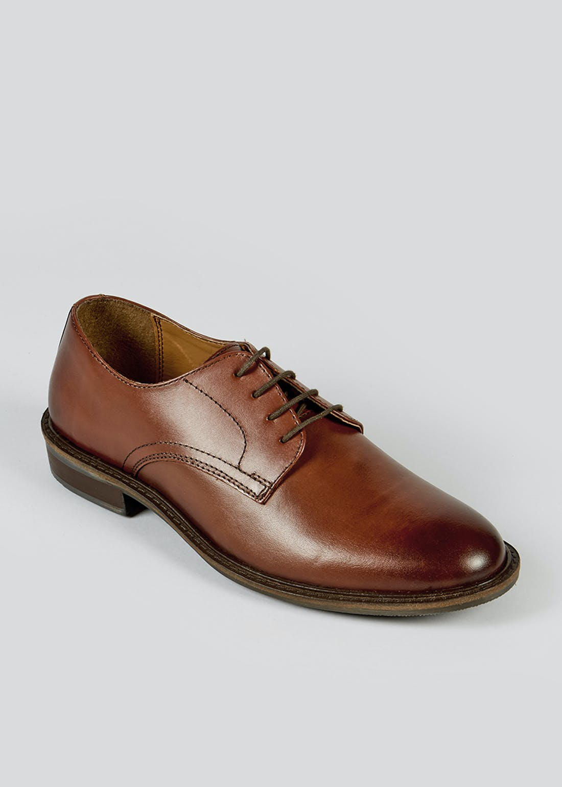 Tan Leather Lace Up Shoes