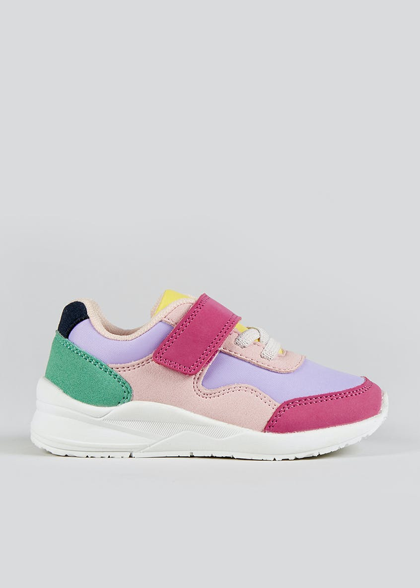 Girls Colour Block Trainers (Younger 4-12)