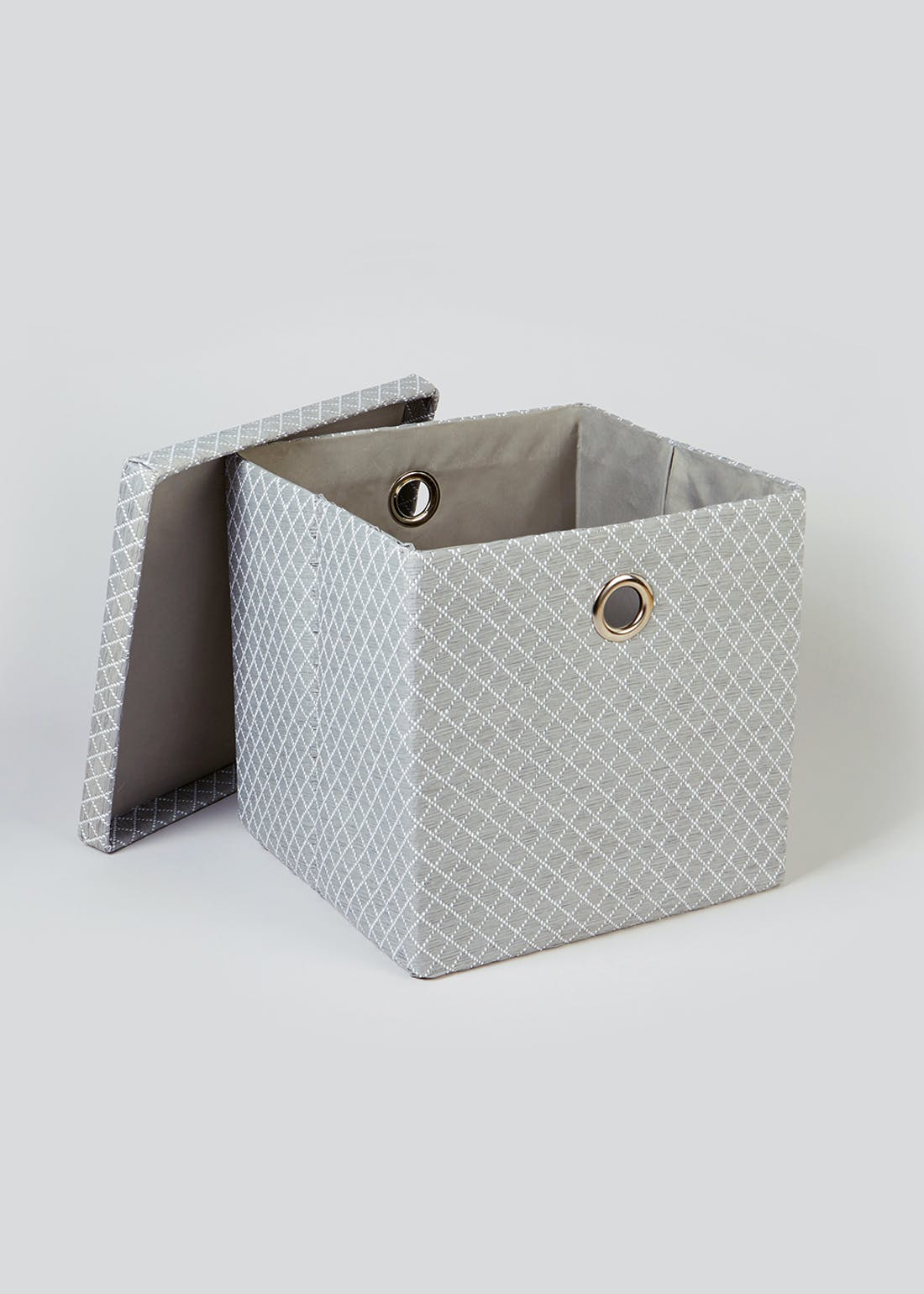 Quilted Foldable Fabric Storage Box (32cm x 32cm x 32cm)