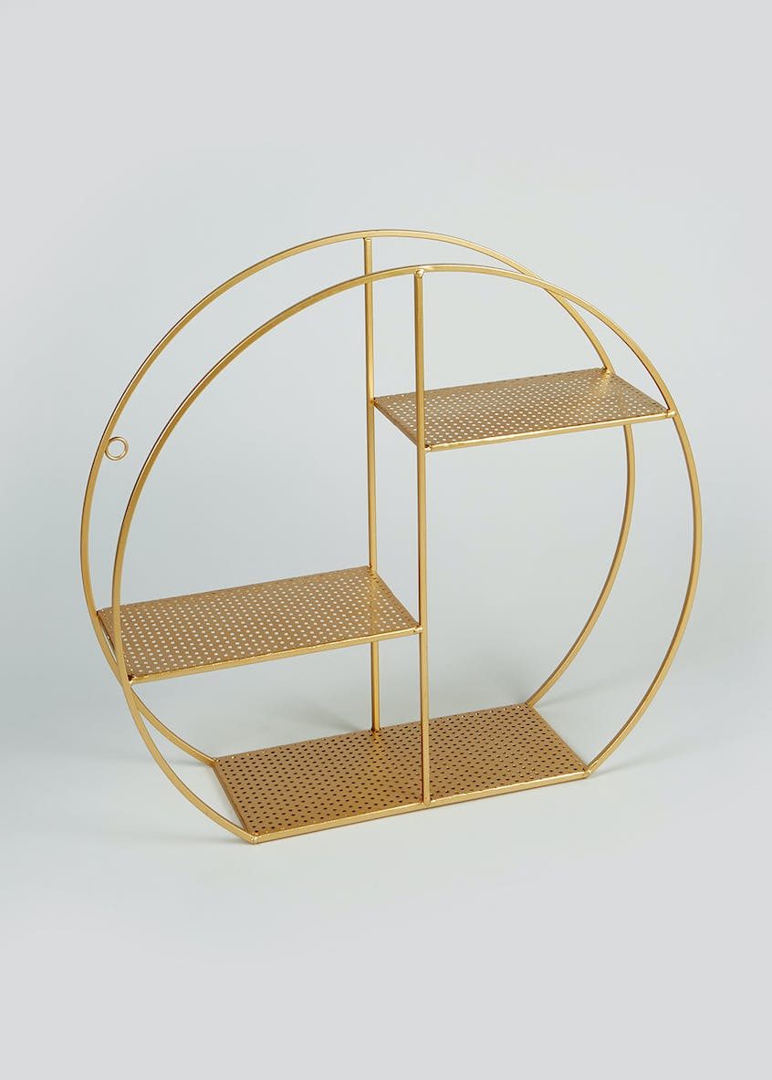 Circular Metal Shelf (44cm x 40cm x 12cm)