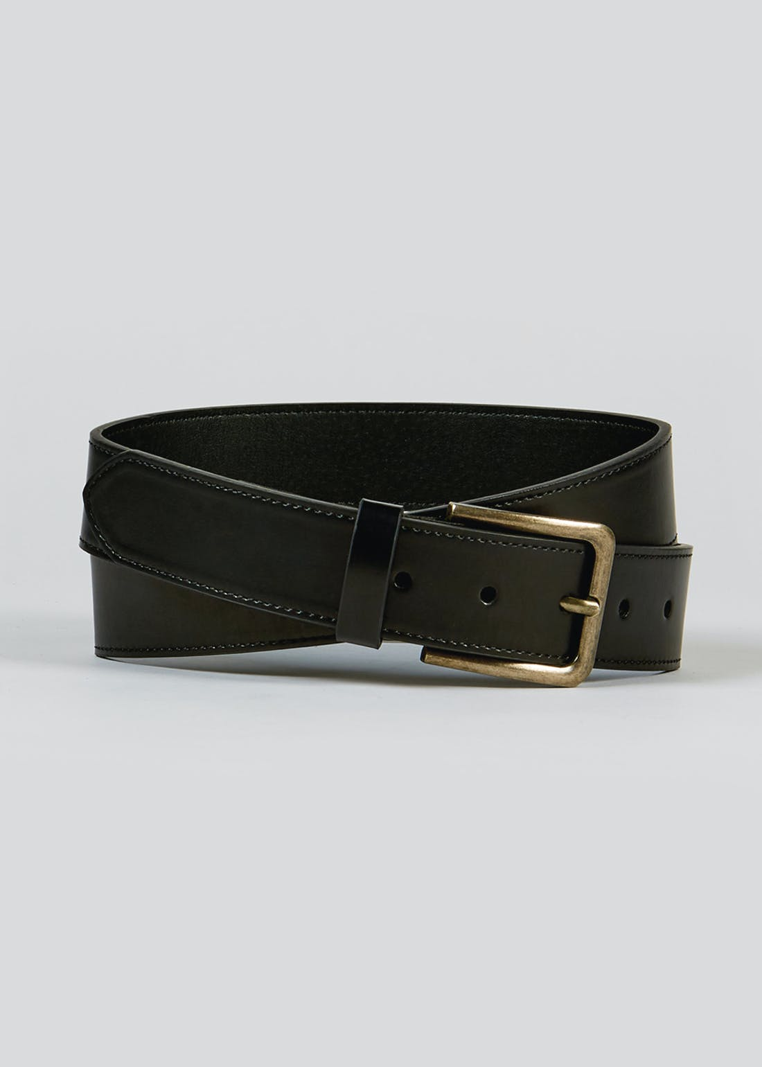 Black Casual Stretch Waist Belt