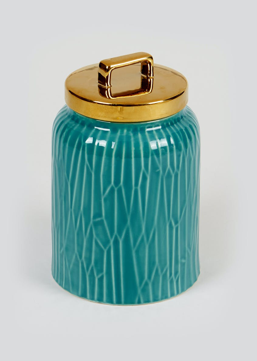 Glazed Kitchen Canister (16cm x 11.5cm)